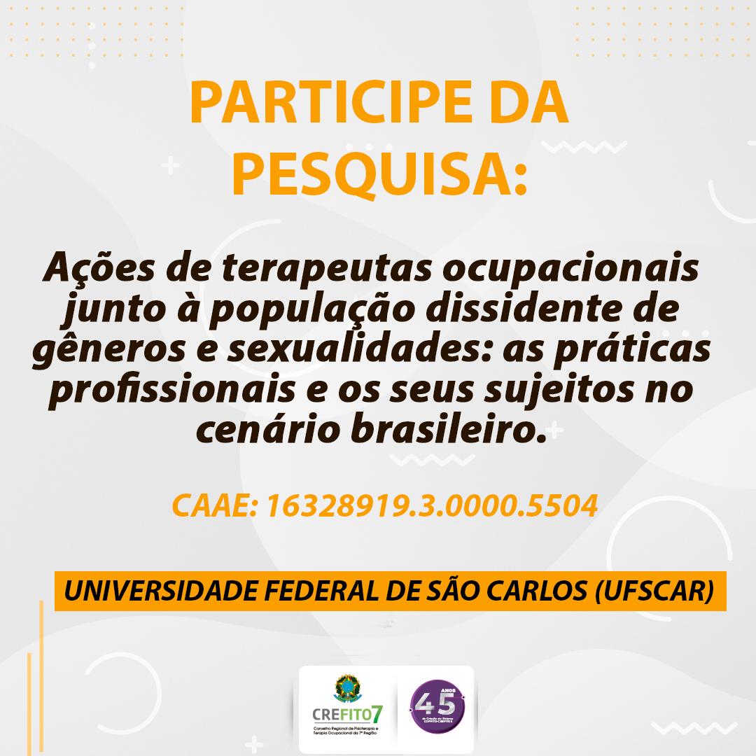 Pesquisa sobre Terapia Ocupacional e População LGBTQI+