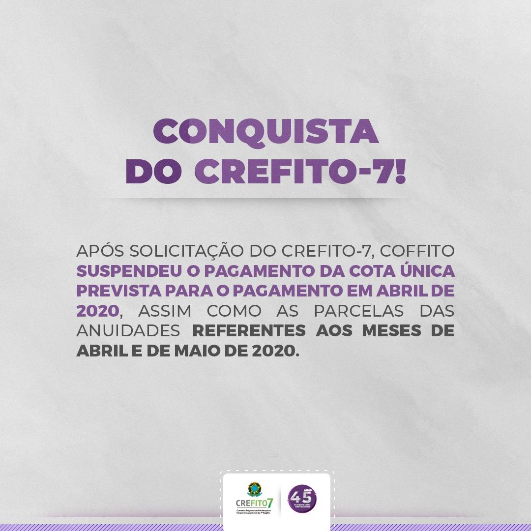 Conquista do CREFITO-7!