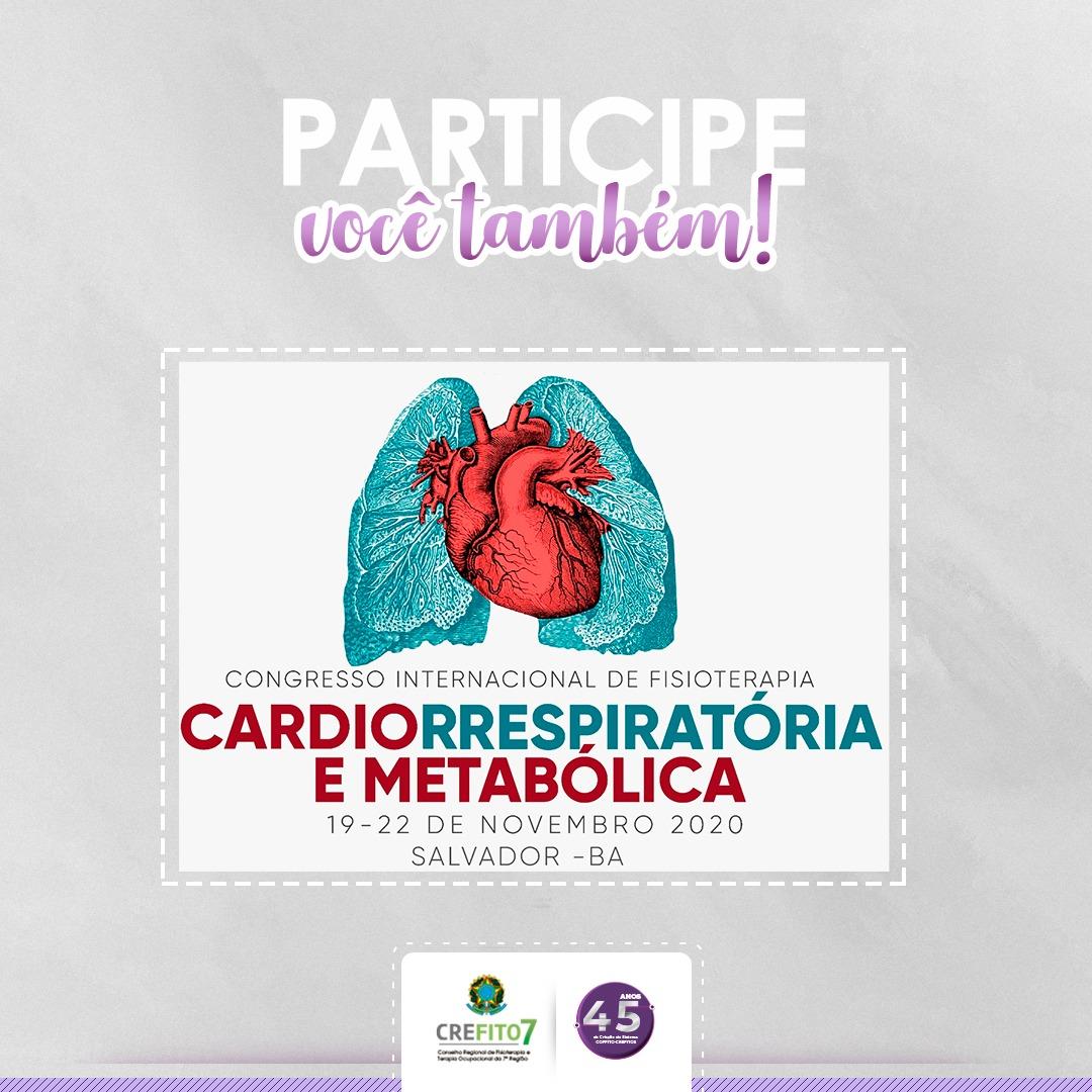 Congresso Internacional de Fisioterapia Cardiorrespiratória e Metabólica