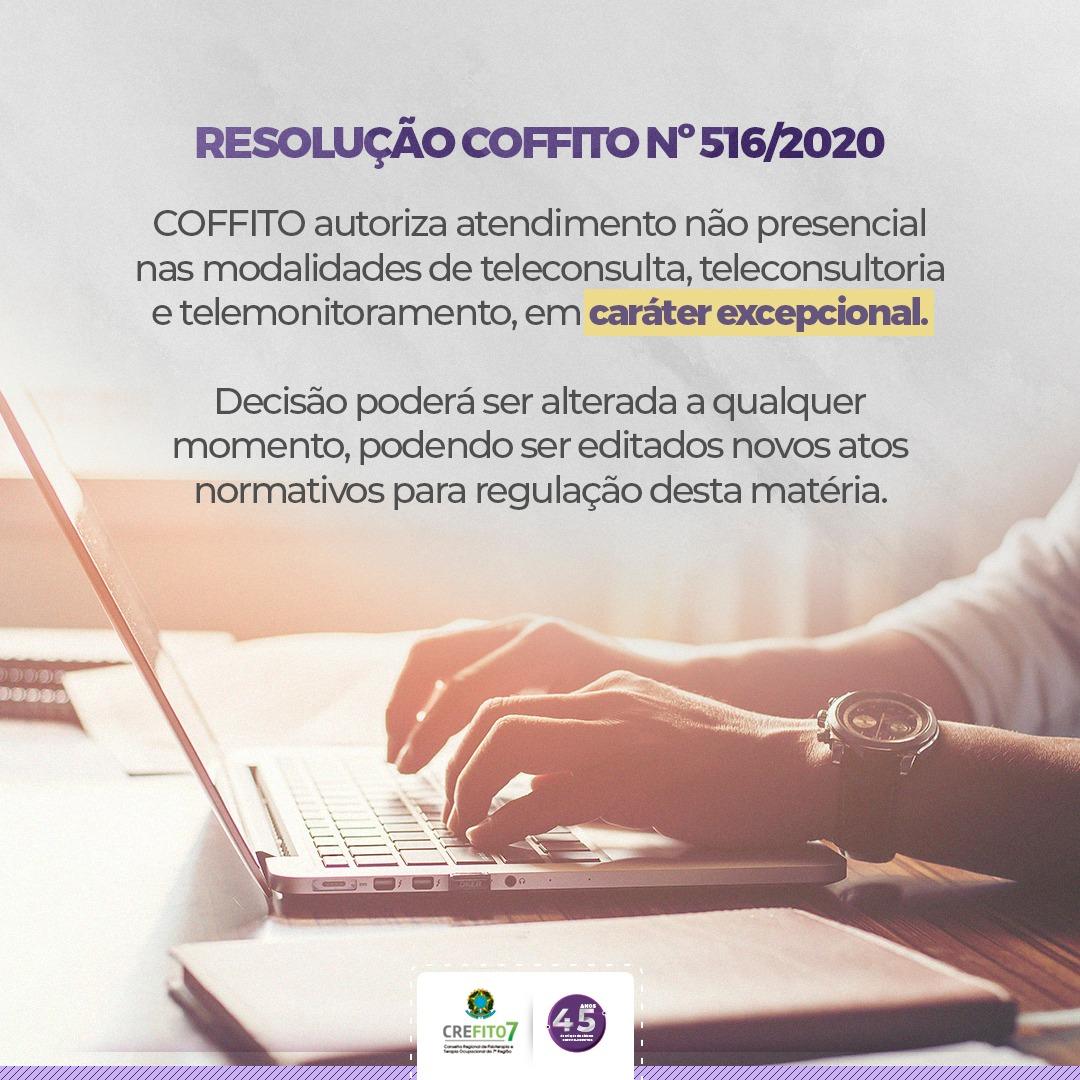 COFFITO publica Resolução que trata de atendimento não presencial