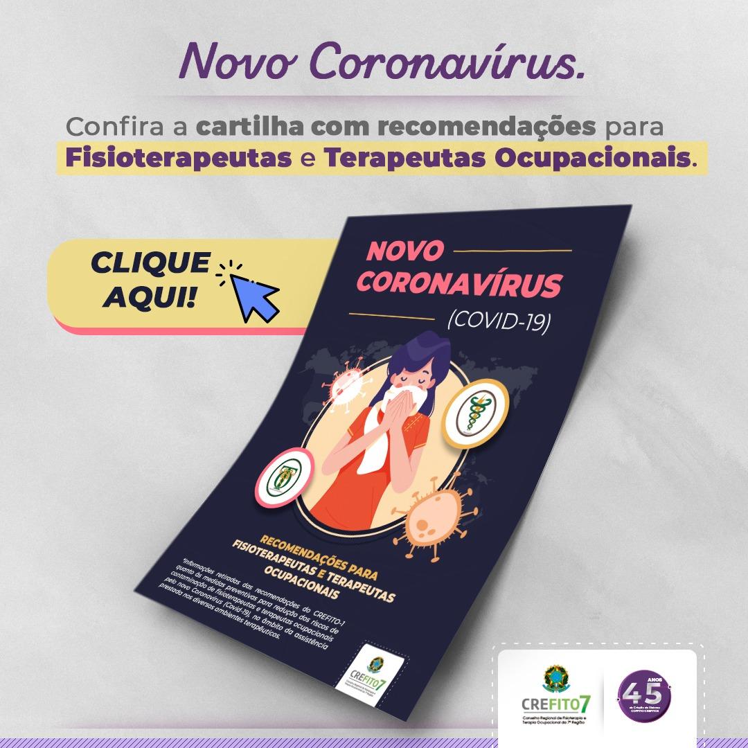 Confira a cartilha com recomendações para Fisioterapeutas e Terapeutas Ocupacionais.