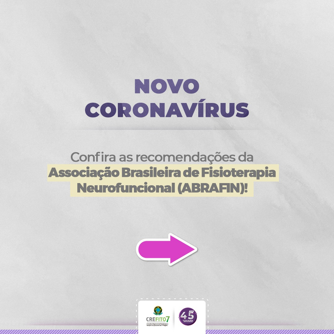 Novo Coronavírus. Recomendações da ABRAFIN