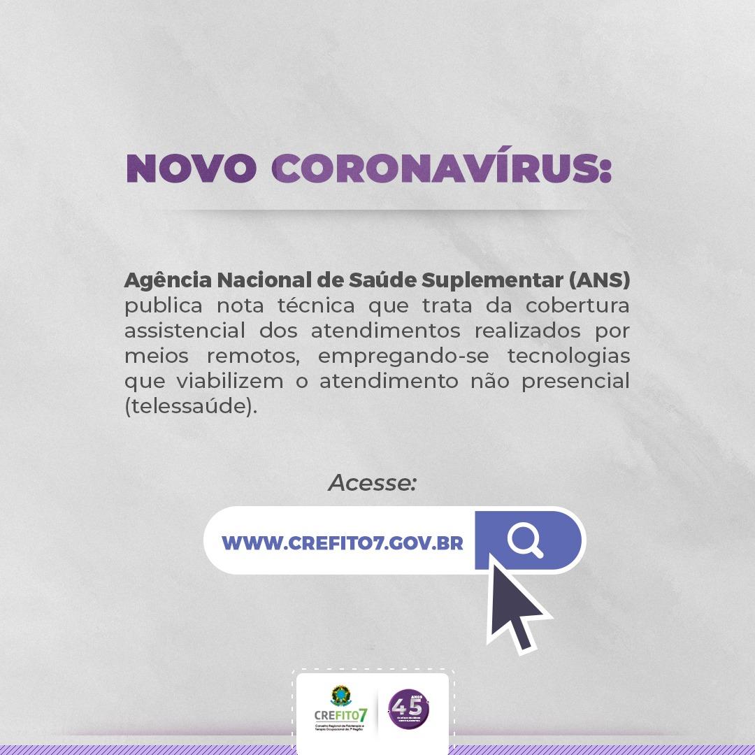 Novo Coronavírus: ANS publica nota técnica que trata de Telessaúde