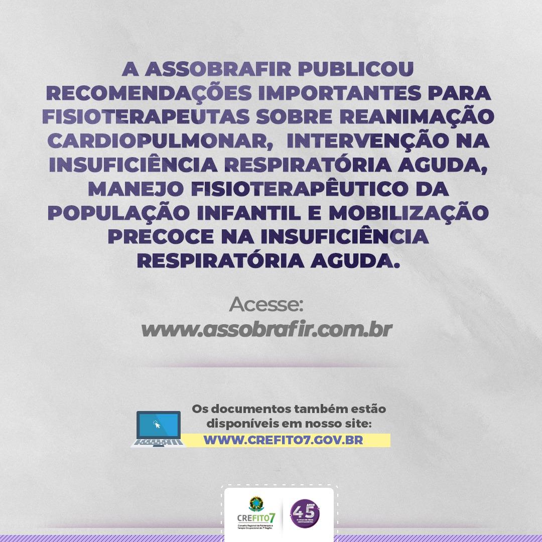 Novo Coronavírus: Recomendações da ASSOBRAFIR
