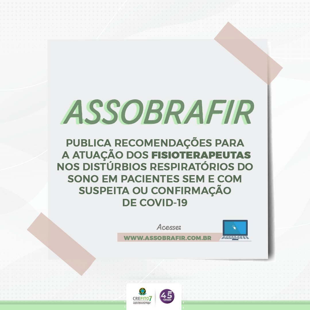 Novo Coronavírus - Recomendações da ASSOBRAFIR
