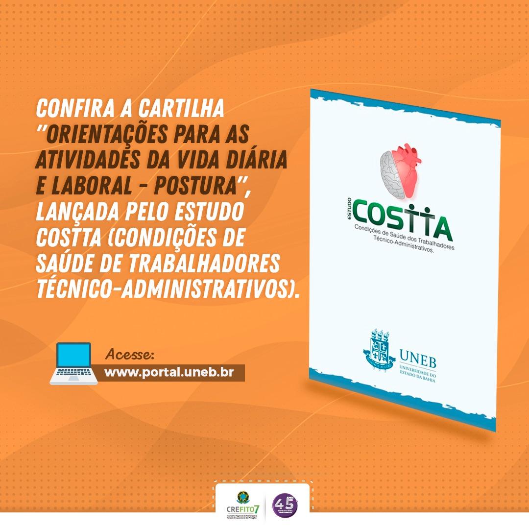 Estudo COSTTA lança cartilha sobre orientações para atividades da vida diária e laboral