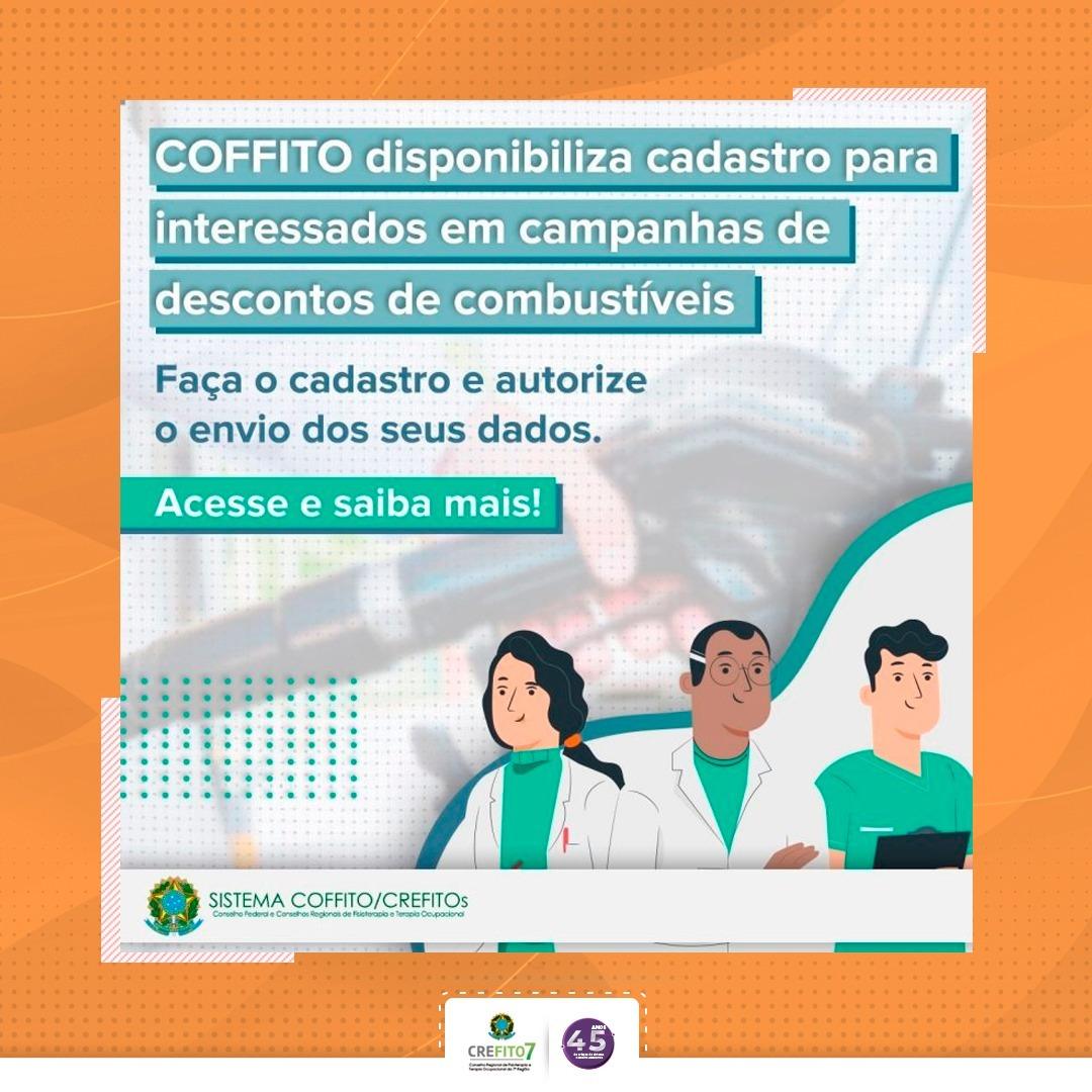 COFFITO disponibiliza cadastro para interessados em campanhas de descontos de combustíveis