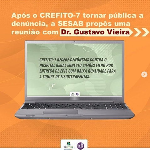Após denúncia, representantes do CREFITO-7 e da SESAB reuniram-se para discutir situação do Hospital Ernesto Simões Filho