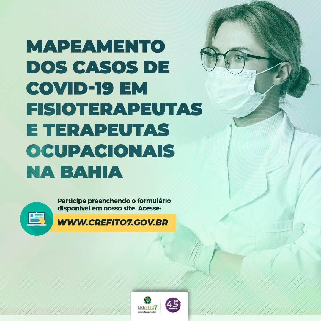 Mapeamento dos casos de COVID-19 em fisioterapeutas e terapeutas ocupacionais na Bahia
