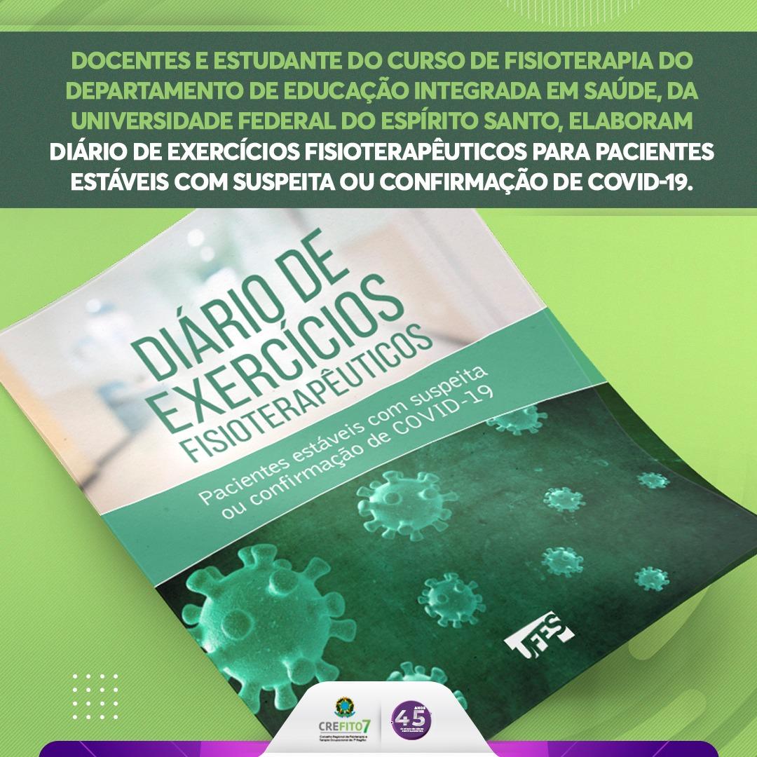 """Curso de Fisioterapia da Universidade Federal do Espírito Santo publica """"Diário de Exercícios Fisioterapêuticos"""""""