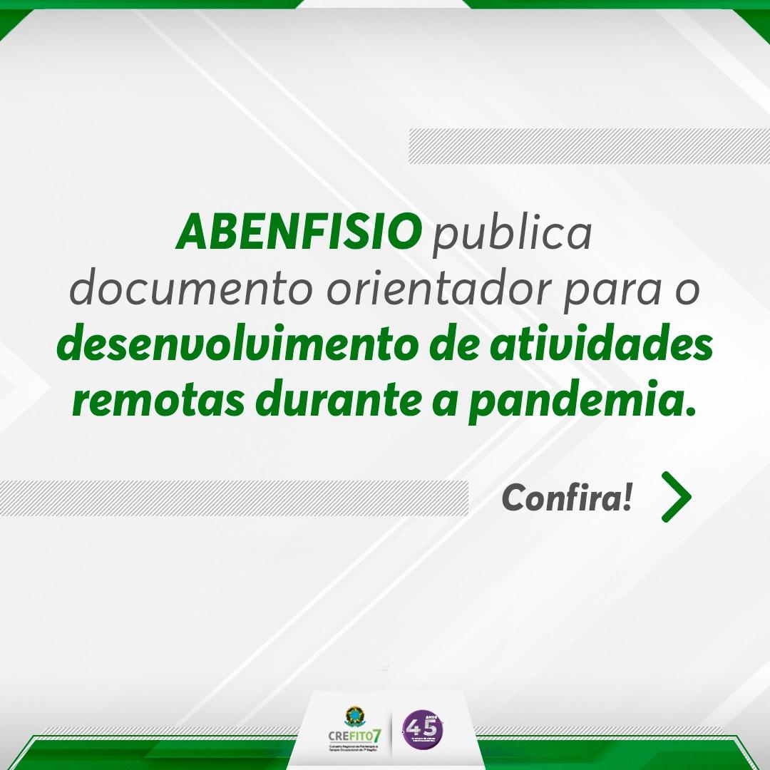 ABENFISIO publica documento para retomada das atividades