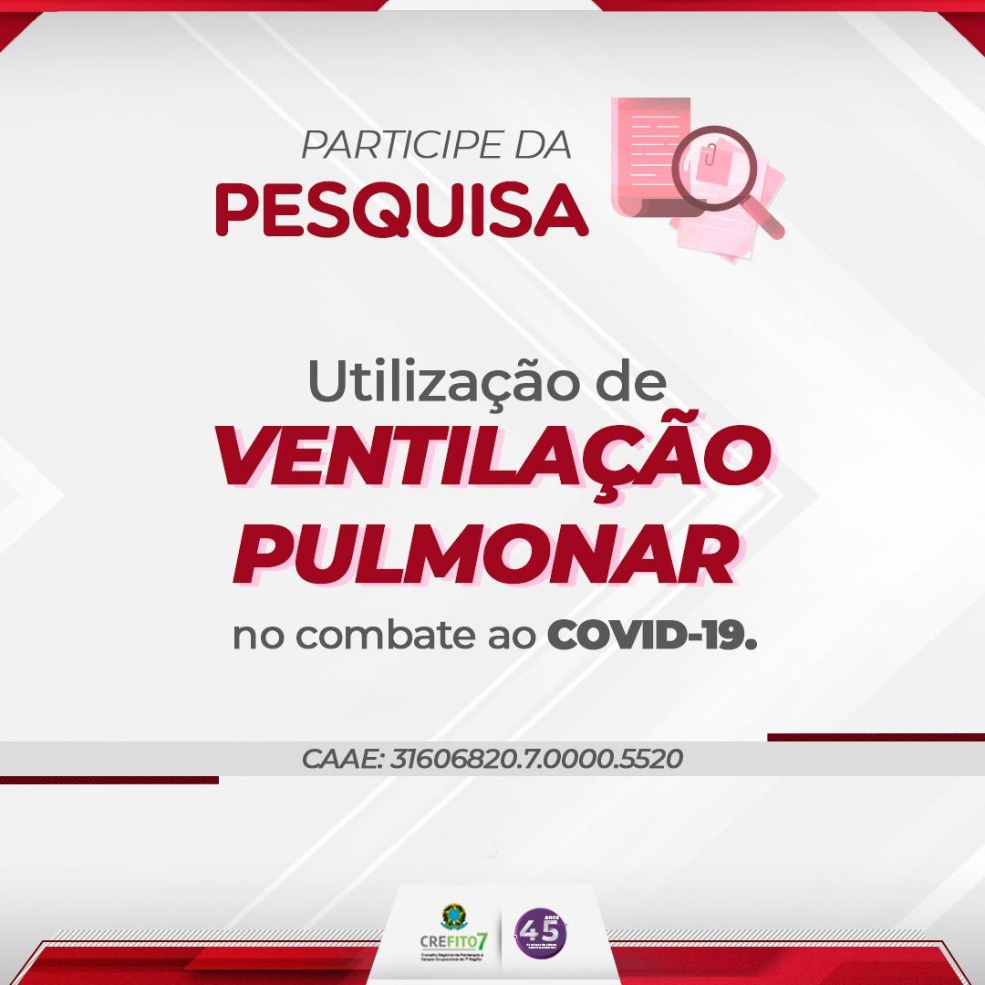 Pesquisa: Utilização de Ventilação Pulmonar no combate ao COVID-19
