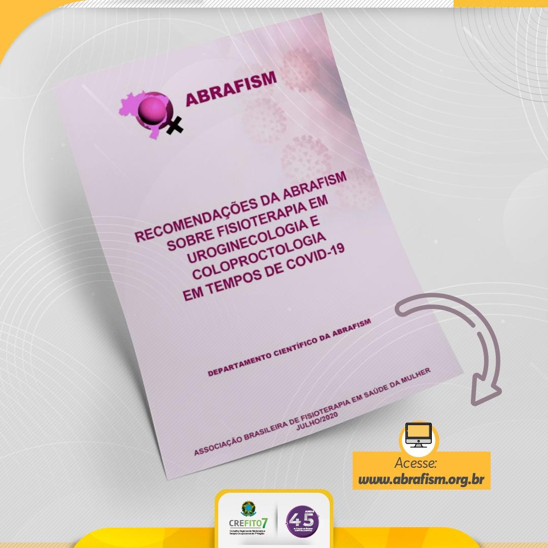 ABRAFISM publica recomendações para atendimento fisioterapêutico em uroginecologia e coloproctologia