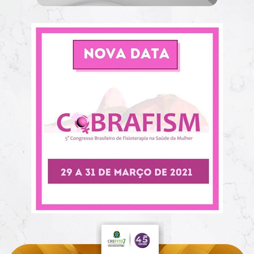 V COBRAFISM: nova data confirmada!