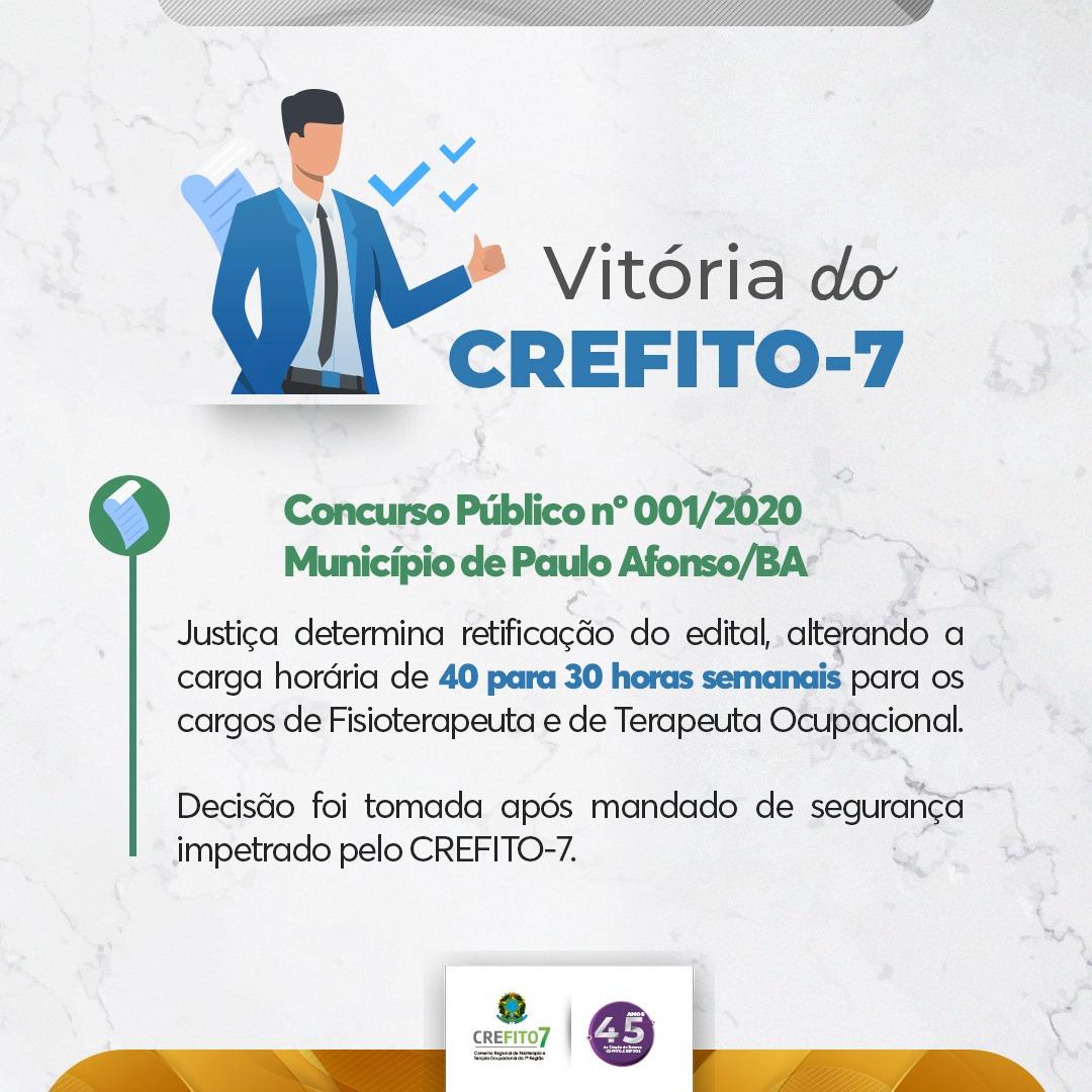 Após mandado de segurança, Justiça determina retificação do edital do concurso público da Prefeitura de Paulo Afonso/BA
