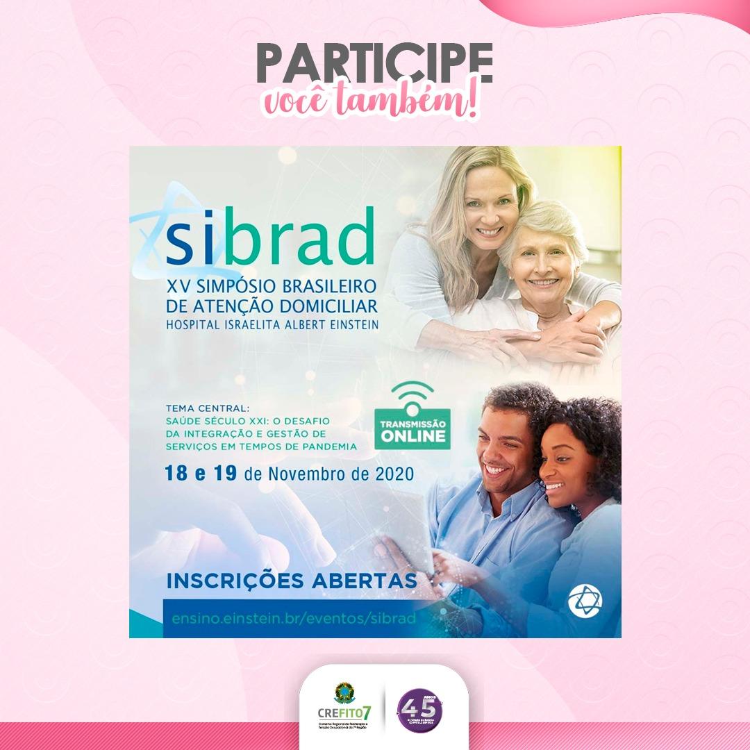 Inscrições abertas para o XV Simpósio Brasileiro de Atenção Domiciliar (SIBRAD)