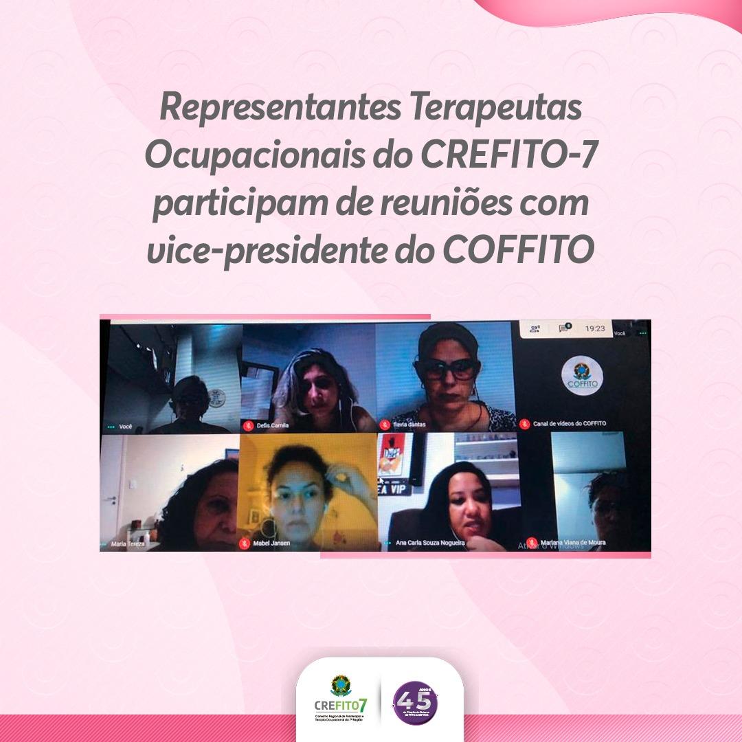 Representantes Terapeutas Ocupacionais do CREFITO-7 participam de reunião com vice-presidente do COFFITO