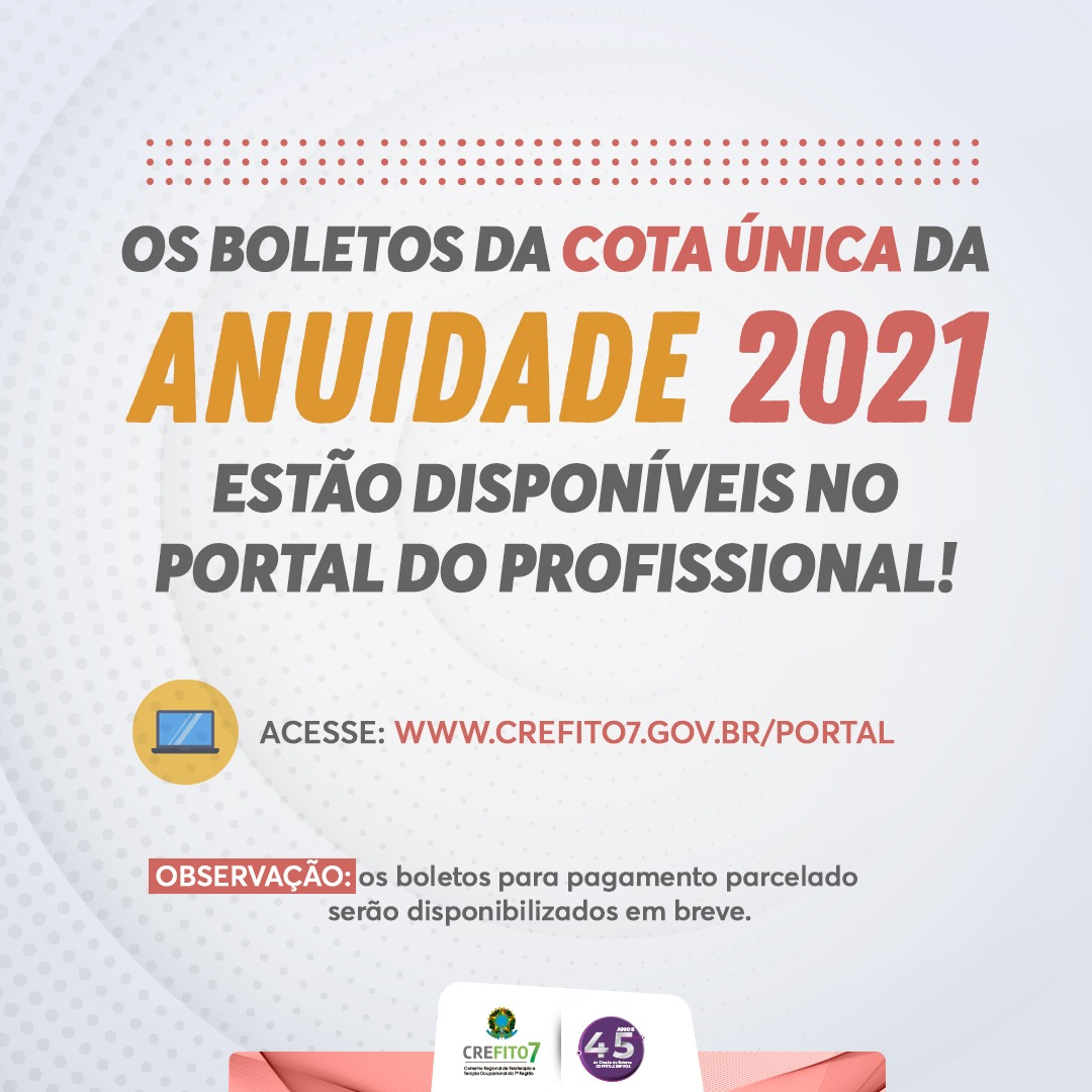 Read more about the article ANUIDADE 2021