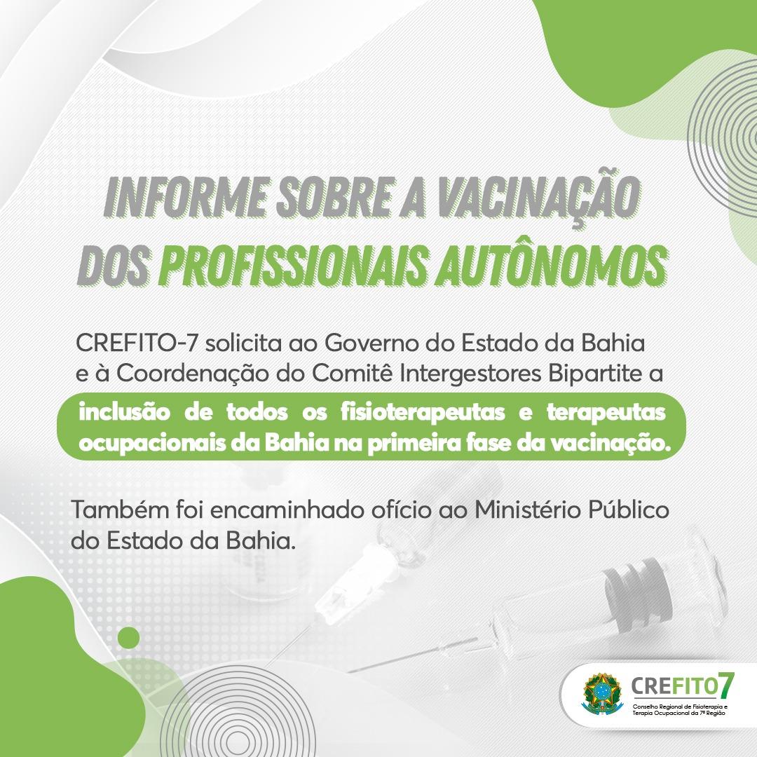 Read more about the article Informe sobre a vacinação dos profissionais autônomos