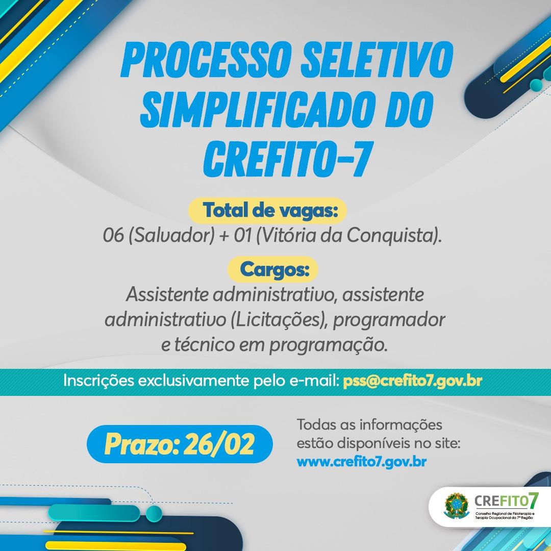 Processo Seletivo Simplificado nº 001/2021