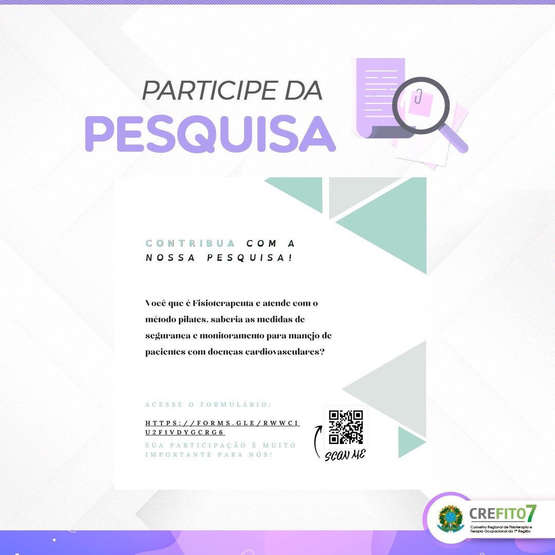 Pesquisa: Nível de conhecimento e medidas de segurança adotadas por profissionais de Fisioterapia atuantes em estúdios de Pilates