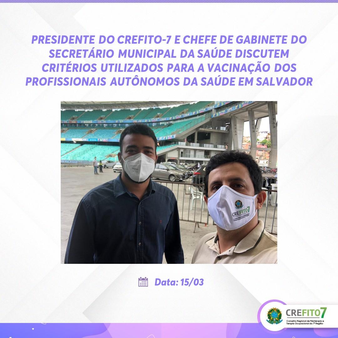 Reunião discute critérios utilizados para  a vacinação dos profissionais autônomos da Saúde em Salvador