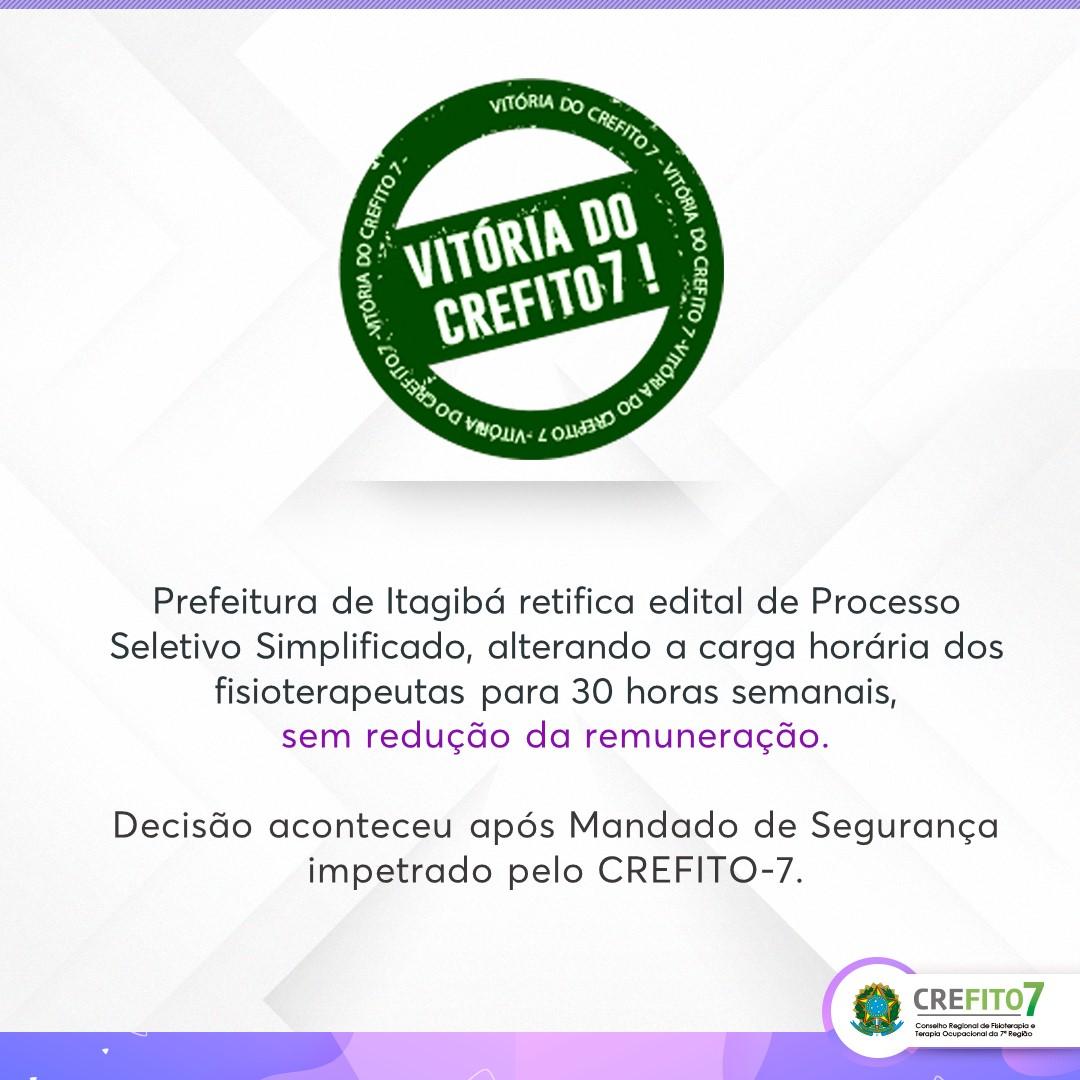 Vitória do CREFITO-7!