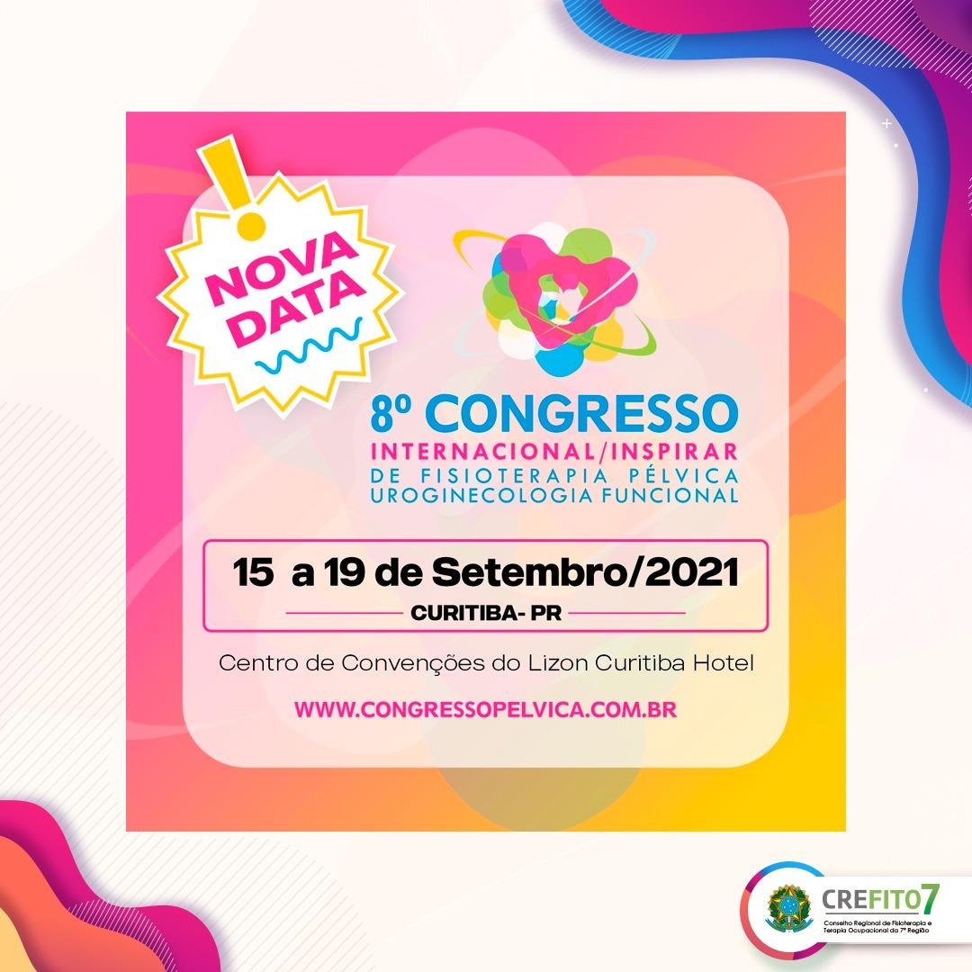 8º Congresso Internacional/Inspirar de Fisioterapia Pélvica Uroginecologia Funcional
