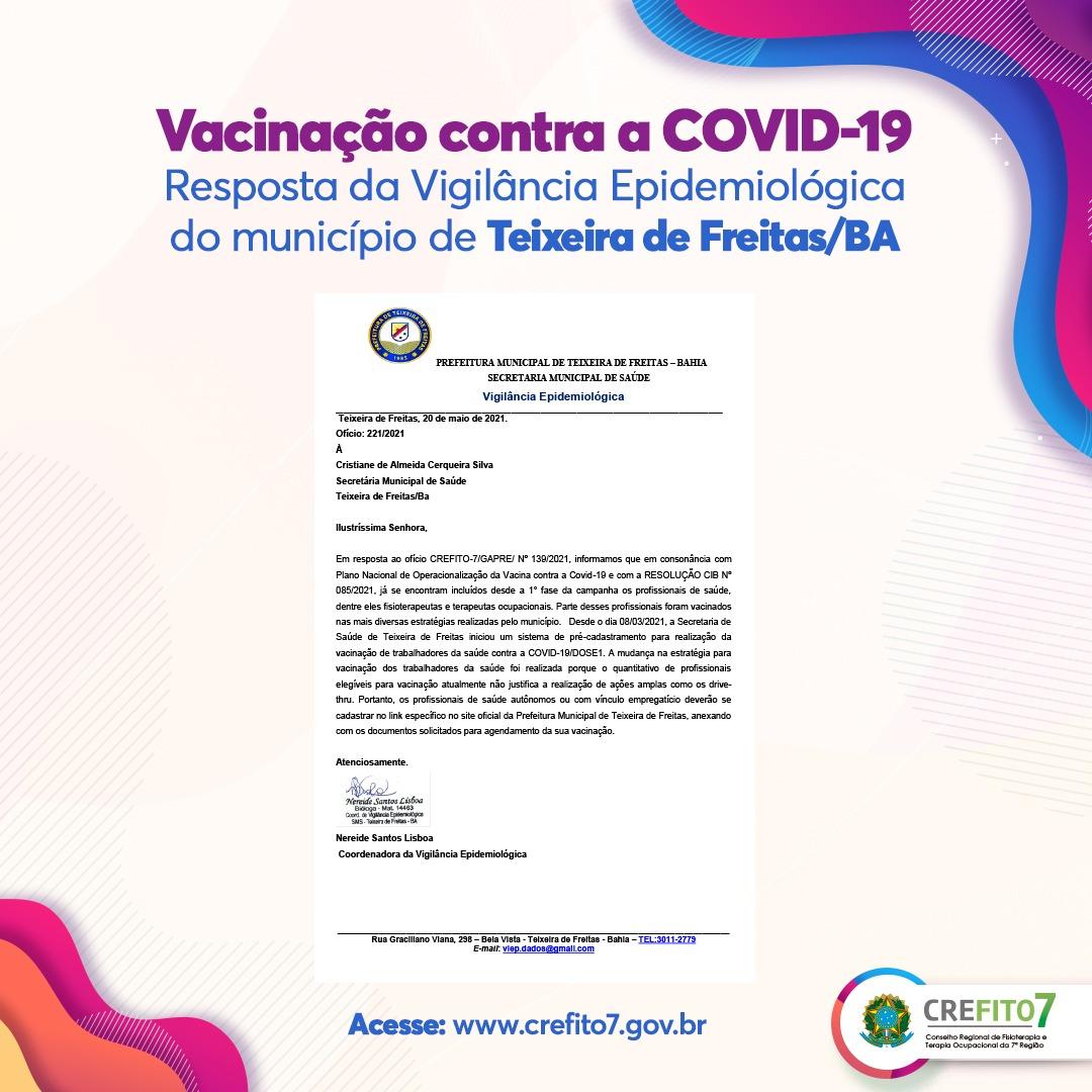 Vacinação contra a COVID-19 - Teixeira de Freitas