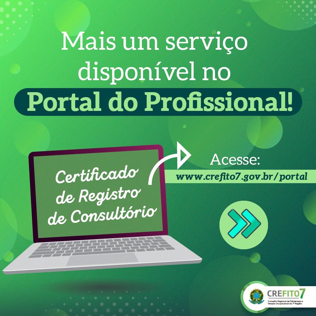Emita o Certificado de Registro de Consultório pelo Portal do Profissional!