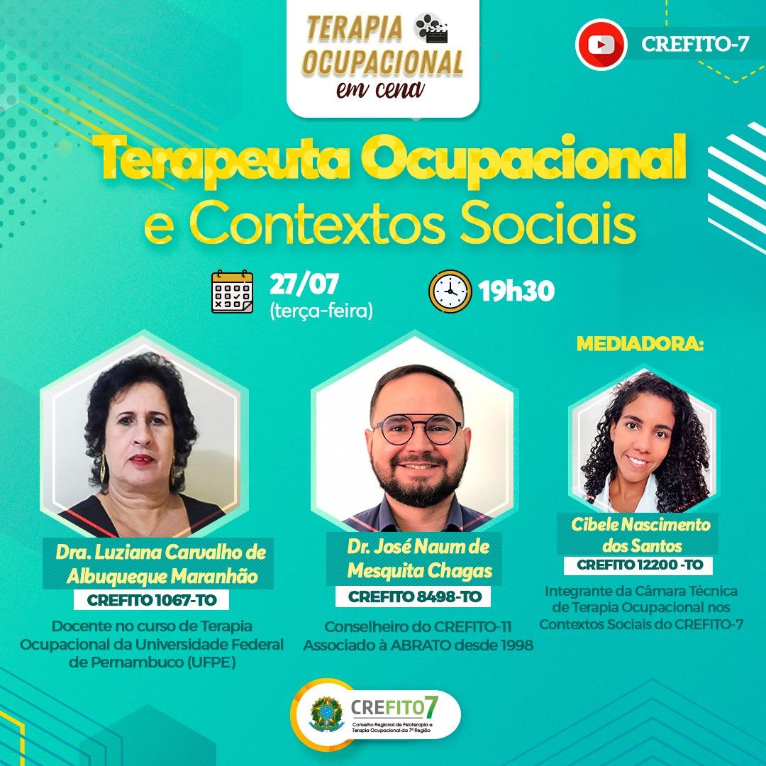 Live: Terapeuta Ocupacional e Contextos Sociais