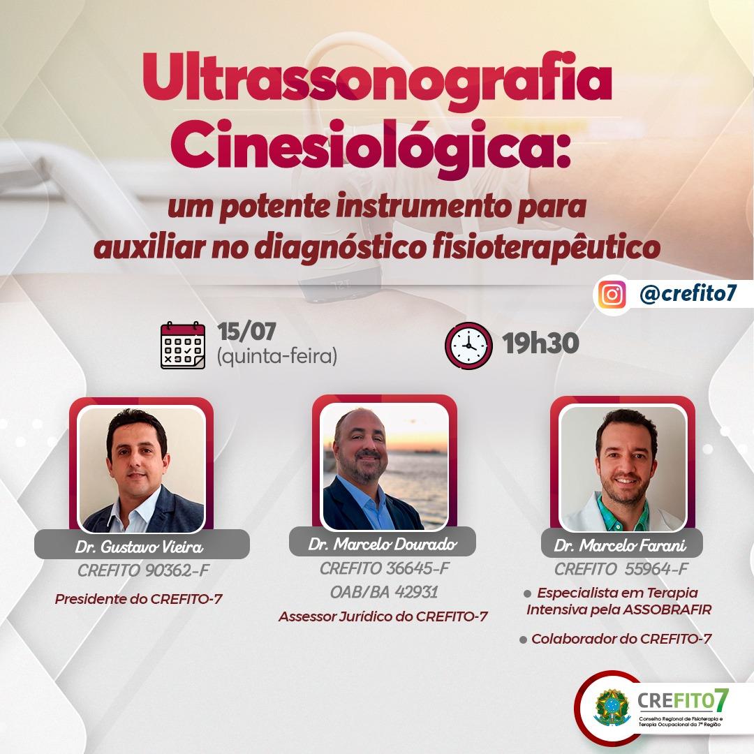 Live: Ultranossonografia Cinesiológica - um potente instrumento para auxiliar no diagnóstico fisioterapêutico