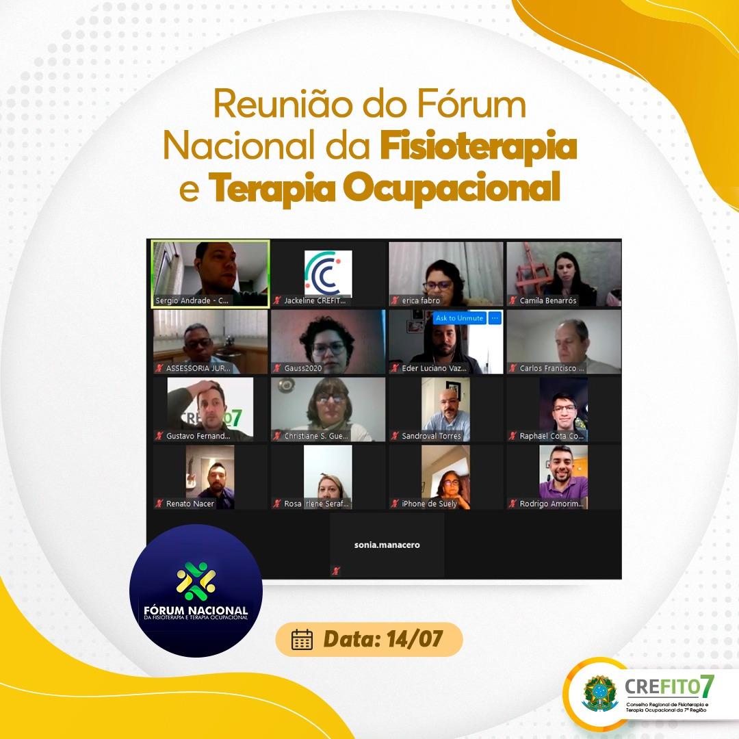 Reunião do Fórum Nacional da Fisioterapia e Terapia Ocupacional