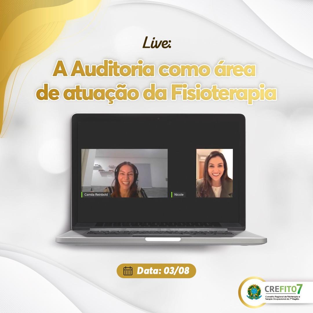 A Auditoria como área de atuação da Fisioterapia foi discutida em live realizada pelo CREFITO-7
