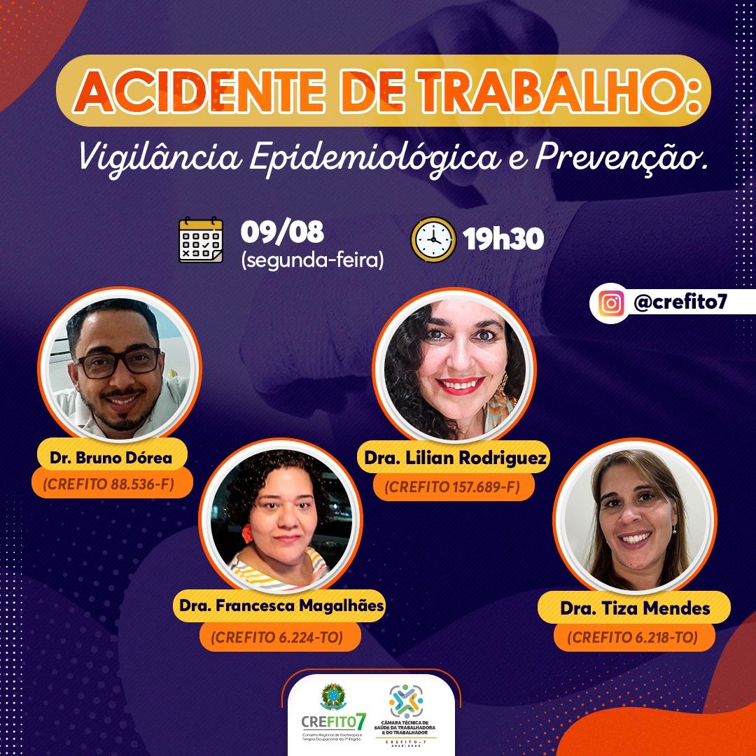 Live | Acidente de Trabalho: Vigilância Epidemiológica e Prevenção