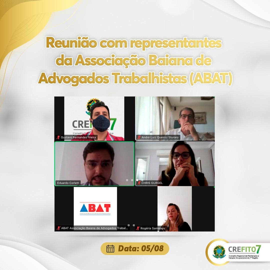 Reunião com representantes da Associação Baiana de Advogados Trabalhistas (ABAT)