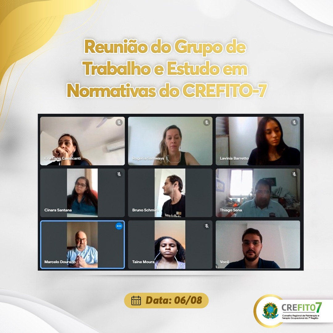 Reunião do Grupo de Trabalho e Estudo em Normativas do CREFITO-7
