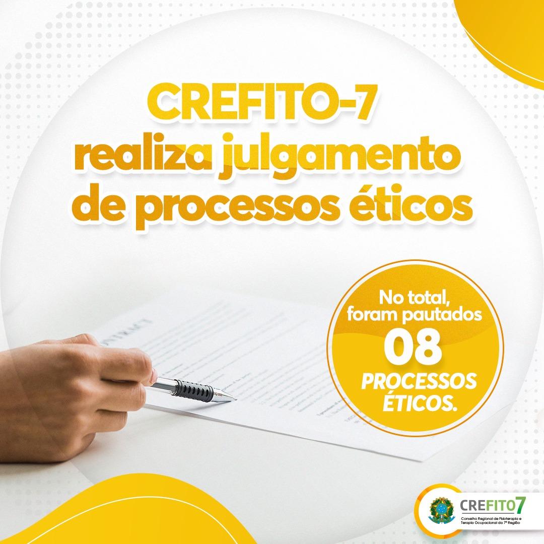 CREFITO-7 realiza julgamentos de processos éticos