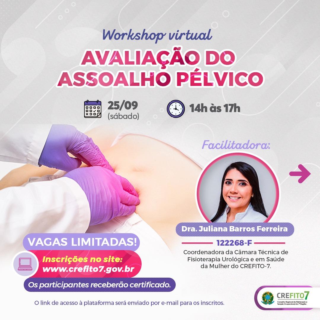 """Read more about the article Inscrições abertas para o workshop """"Avaliação do Assoalho Pélvico""""!"""