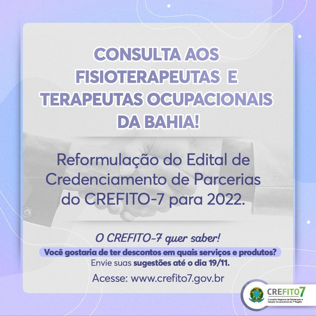 Consulta aos fisioterapeutas e terapeutas ocupacionais da Bahia
