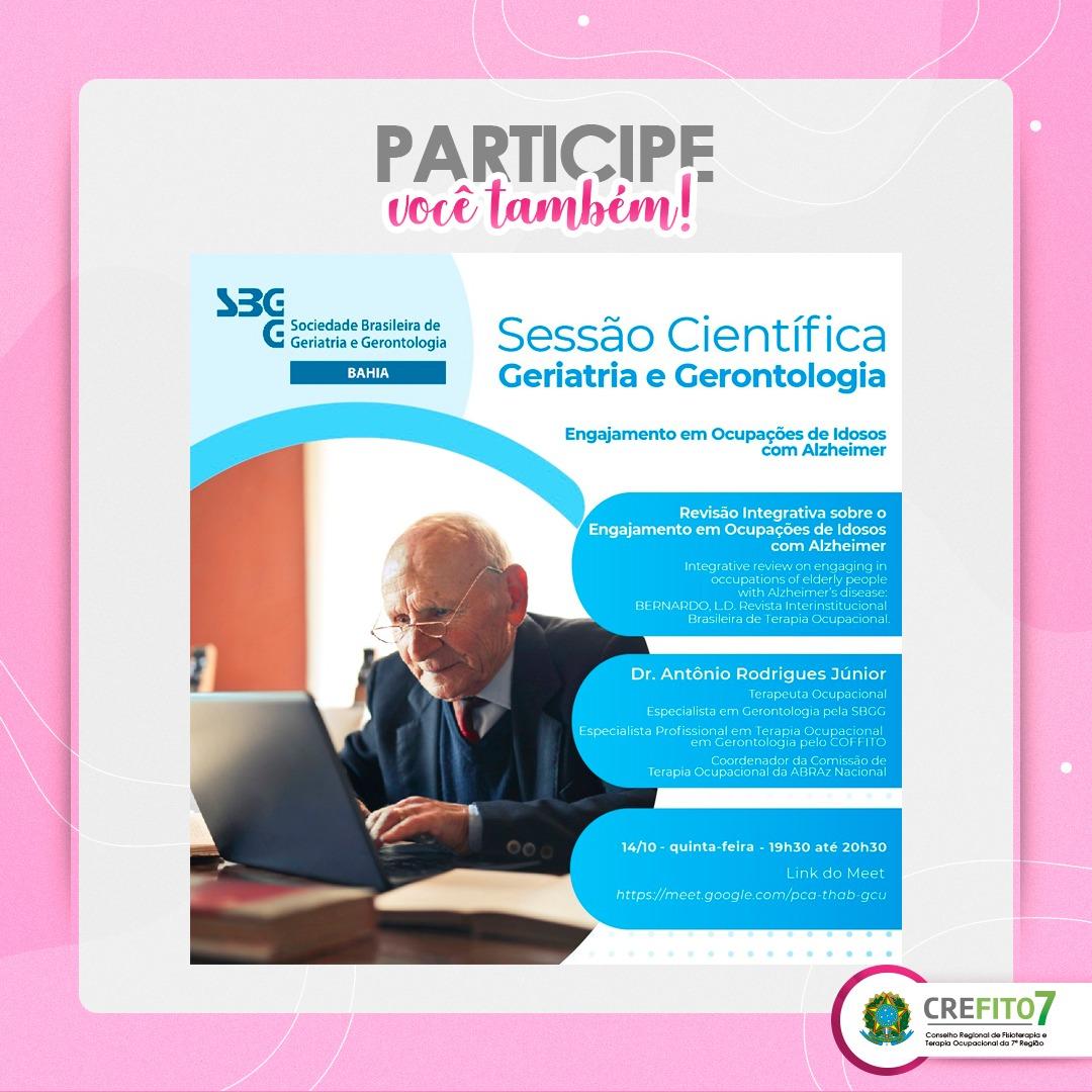 Read more about the article Sessão Científica: Revisão Integrativa sobre o Engajamento em Ocupações de Idosos com Alzheimer