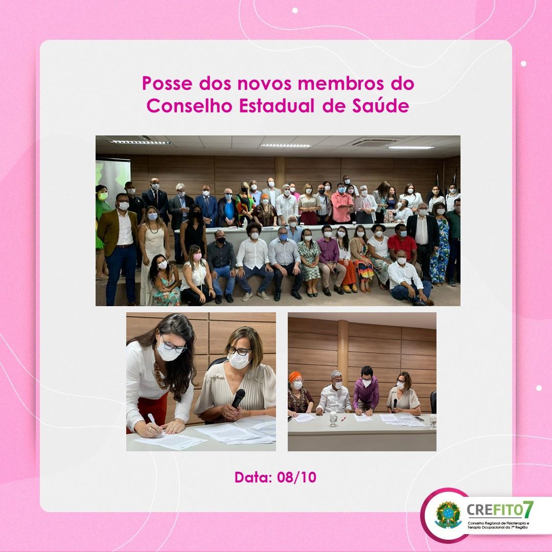 Read more about the article Posse dos novos membros do Conselho Estadual de Saúde