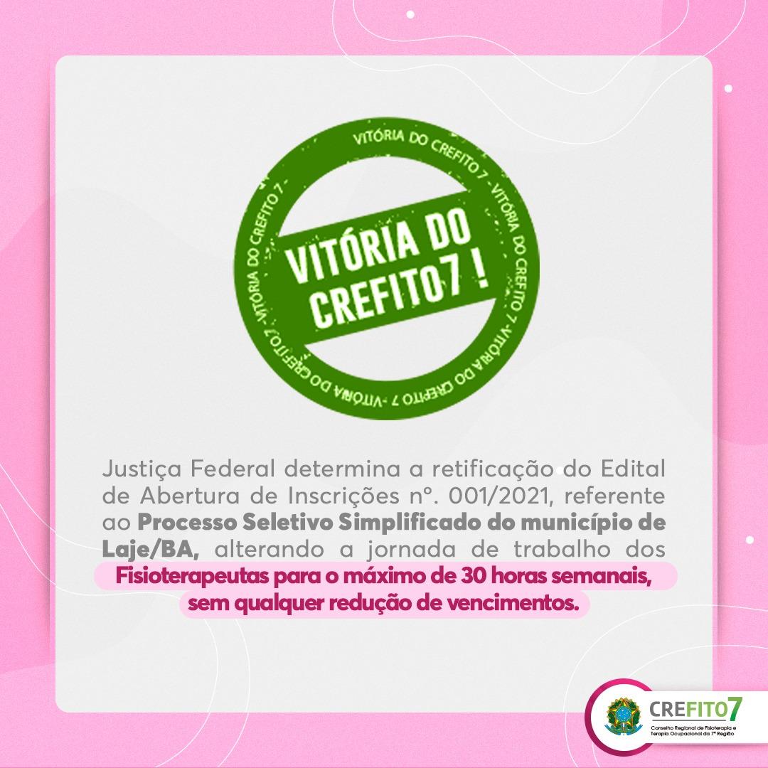 Read more about the article O CREFITO-7 garante o cumprimento da Lei!