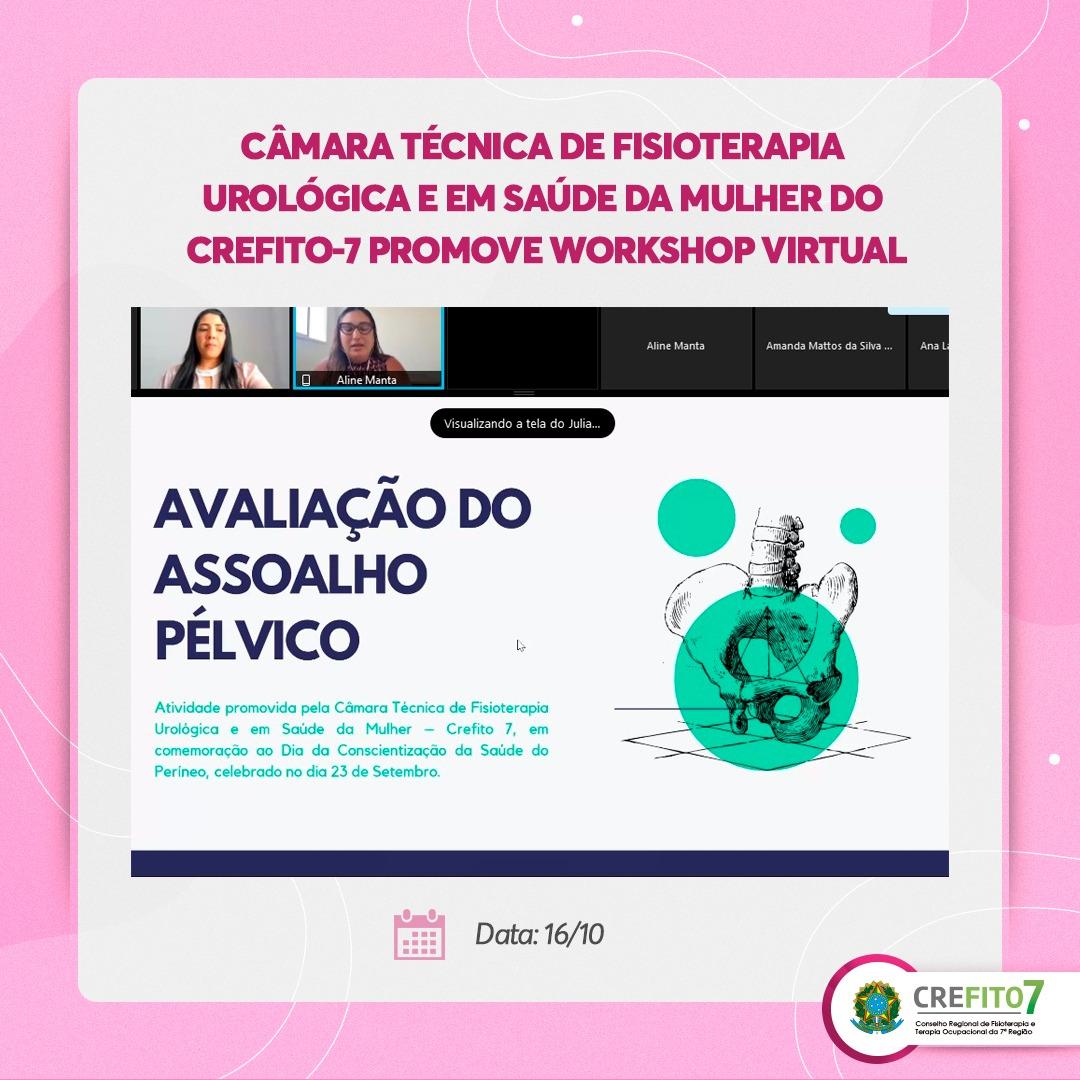 """Câmara Técnica de Fisioterapia Urológica e em Saúde da Mulher promove Workshop """"Avaliação do Assoalho Pélvico"""""""